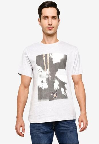 !Solid grey Lerado Graphic Print T-Shirt 3F020AAE550C12GS_1