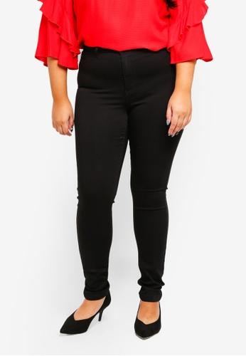 Junarose black Plus Size Solid Black Slim Jeans ADED8AA32FA5EEGS_1