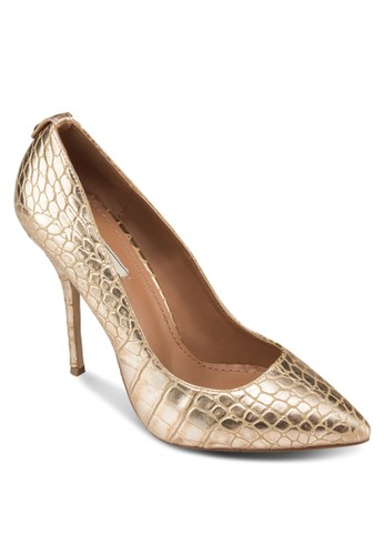 METALLIC CROCO zalora 心得 pttHEEL PUMP, 女鞋, 鞋