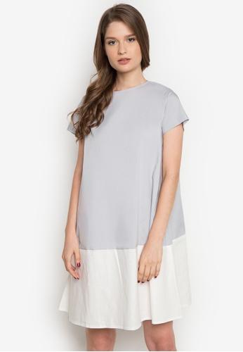 Cole Vintage grey and white Karishma Dress CO446AA0JTG9PH_1