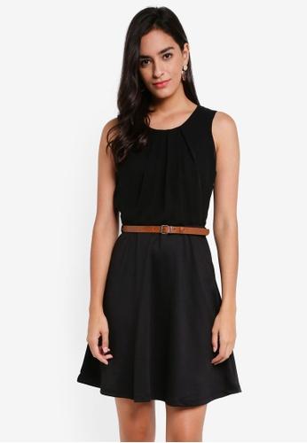 Vero Moda black Lucy Belt SL Short Dress 729A3AA1CB1A68GS_1