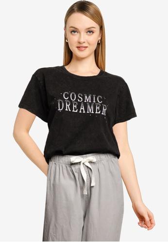 Cotton On black Classic Slogan T Shirt 4B1CFAA93D4FC8GS_1