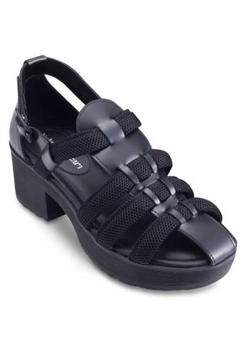 Pzalora 心得icabo 粗跟羅馬涼鞋, 女鞋, 鞋