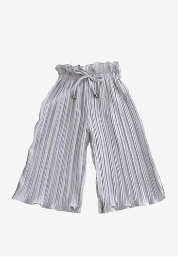 Mommy Hugs grey Girls Pleated Pants 5E0DDKAFBD8927GS_1