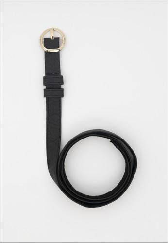 1 PEOPLE black Berlin SXF - Thin Belt - Charcoal DE536ACF02C6D7GS_1