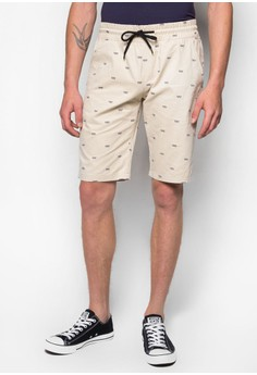 Embroidery Shorts with Draw String Details