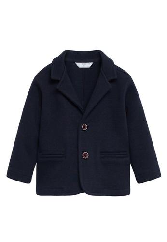 MANGO BABY blue Cotton Knit Blazer 30B3BKA888C788GS_1