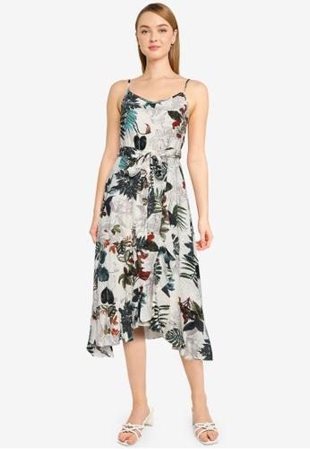 Nichii 米褐色 Floral Print Cami Dress 1DB3FAAFBC37E7GS_1