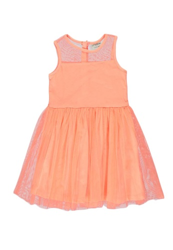 LC Waikiki orange Girl's Tulle Dress 6E119KAD2ACFBCGS_1
