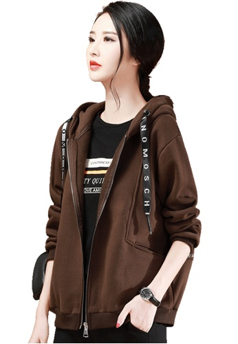 A-IN GIRLS brown Plush Hooded Sweater Coat A366EAA9A4D33BGS_1