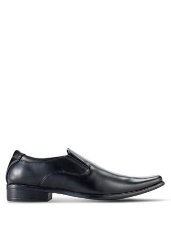 UniqTee black Classic Slip On Derby Shoes UN097SH88NQLMY_1