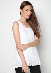 Finn Touch white Layered Sleeveless Blouse DA093AA32TPNPH_1