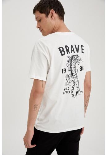 DeFacto beige Man Knitted T-Shirt B59DAAA02992EBGS_1