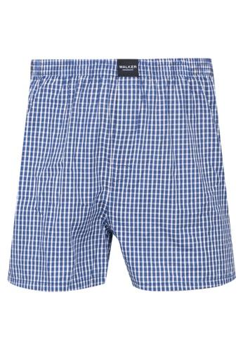 Walker Underwear blue Checkered Shorts 2705DUS4053253GS_1