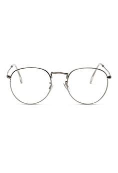 192baed559 Kyfer s Eyewear   Essentials silver Semi Round Metal Eyewear  KY376AC45RBESG 1