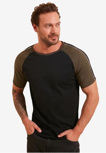 Trendyol black Black Raglan T-Shirt 521B6AAABD4C10GS_1