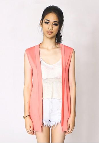 Nero Basic Apparel orange Clean Cut Off Vest,Tanggerine,Women's Outerwear NE095AA35MVSID_1