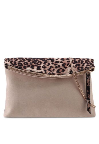 4b6509ff1a Buy Dorothy Perkins Leopard Foldover Clutch Bag Online | ZALORA Malaysia