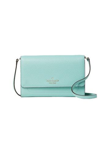 Kate Spade green Kate Spade Harlow Wallet On A String WLR00081 Aqua Bloom D50CEACB1436DBGS_1