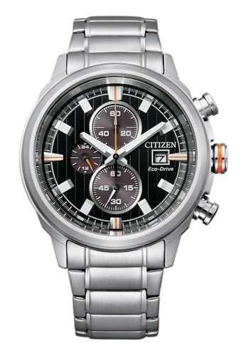 Citizen silver Citizen Eco-Drive CA0730-85E Black and Silver Stainless Steel Watch F93A4AC6EB9329GS_1