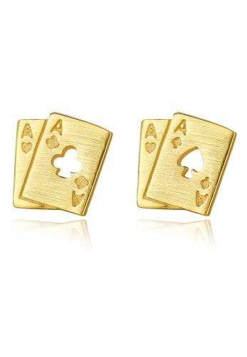 SUNRAIS gold High quality Silver S925 gold fashion earrings 08C73AC3912453GS_1