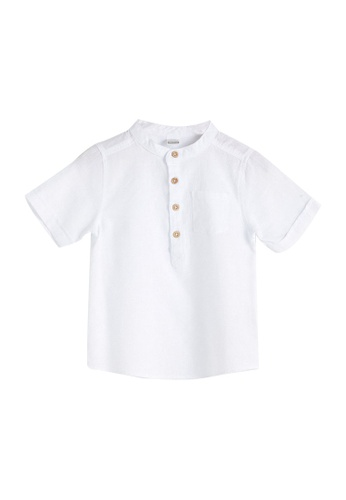 LC Waikiki white Collar Basic Poplin Baby Boy Shirt D4919KA977E391GS_1