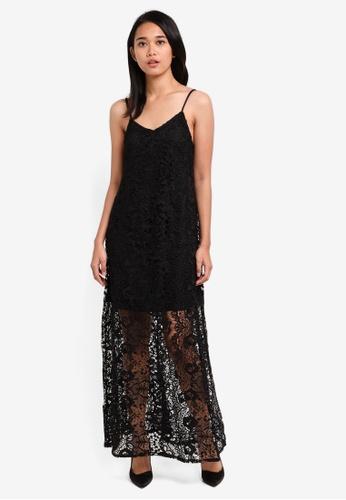 Something Borrowed black Lace Swing Cami Maxi Dress 11890AA2167579GS_1
