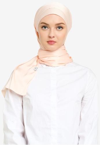 UMMA 粉紅色 Nour 綢緞絲巾 686A4AA3CC9F83GS_1