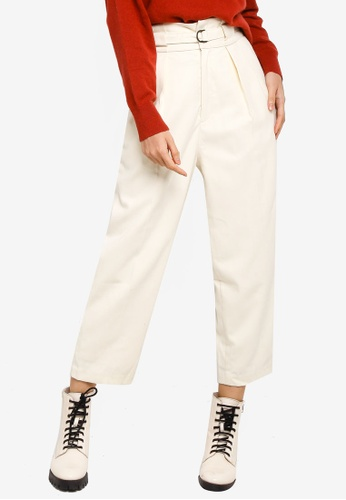 niko and ... white Belted Ankle Pants 42AC7AA43C6014GS_1