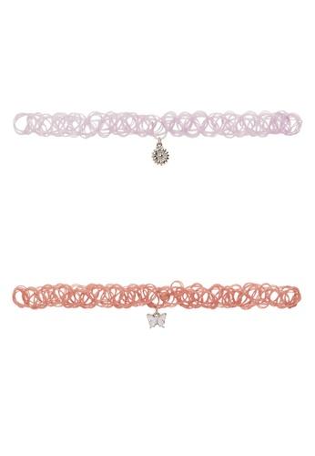 MANGO KIDS pink 2-Pack Pendant Chokers C7A41KCC459C06GS_1