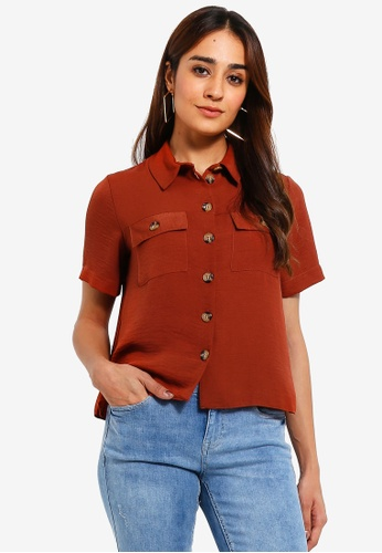 c3a78bf4abfbdb Buy Dorothy Perkins Petite Ginger Resort Shirt Online on ZALORA Singapore