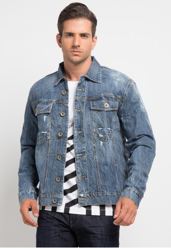 Bombboogie blue Bb Denim Jacket BO419AA0V6Z3ID_1
