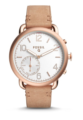 Fossil brown Fossil Q Tailor Light Brown Leather Hybrid Smartwatch FTW1129 FO164AC43ESQMY_1