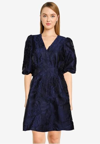 Vero Moda navy Jacarla Short Dress DA451AAE13BB04GS_1
