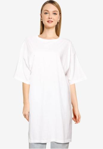 LOWRYS FARM white Longline T-Shirt D371AAA00605F3GS_1
