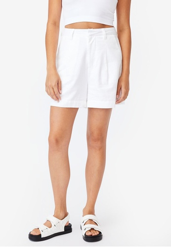 Cotton On white Ultimate Smart Shorts 55D2CAA167AB49GS_1