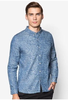 L/S Printed Shirt with Elbow Patch