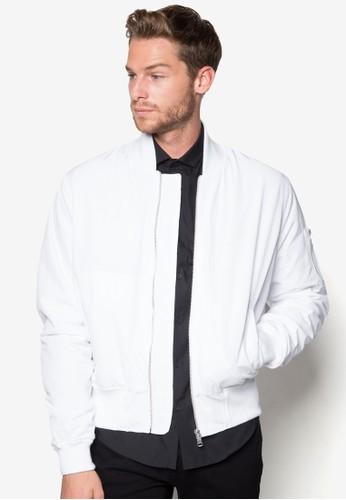 AAA Whesprit 衣服ite Ruche Bomber Jacket, 服飾, 外套