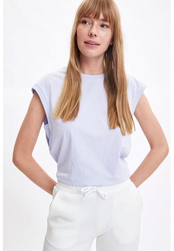 DeFacto purple Sleeveless Round Neck Cotton T-Shirt 20C37AAD588E72GS_1