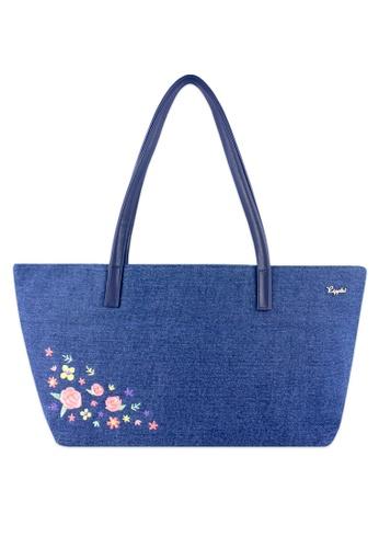 Ripples blue Sweet Garden Floral Embroidery Ladies Handbag 9249DAC7913F27GS_1