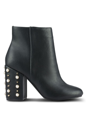 Dorothy Perkins black Black Apurla Heeled Boots DO816SH0RSPCMY_1