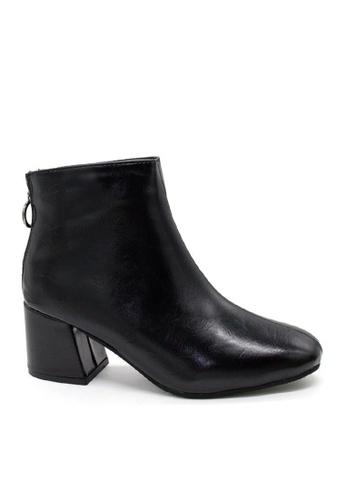 Twenty Eight Shoes black VANSA Back Zipper Mid Boots VSW-B688 0D7E1SHA0B9884GS_1