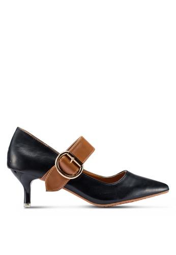 Berrybenka 黑色 雙色高跟鞋 003CFSH1D79BA8GS_1
