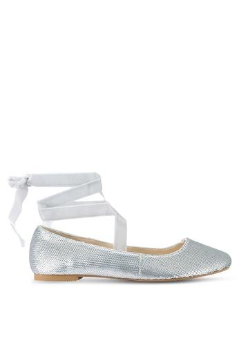 ZALORA silver Sequinned Ballerina Shoes 89DDASHD7C09F0GS_1