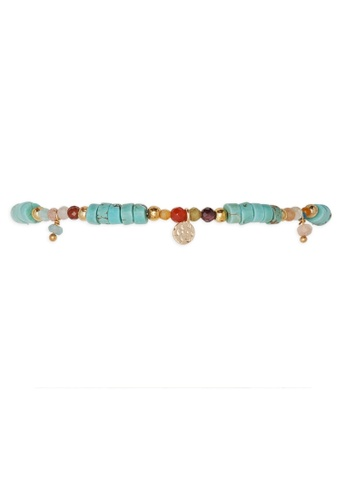 HIPANEMA red and blue and multi and gold Ankle bracelet - Anklet Isiris turquoise 1DA8FACBA7B391GS_1