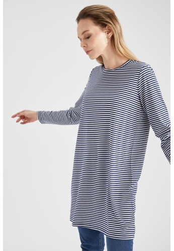 DeFacto blue Woman Knitted Long Sleeve  Tunic E4580AA47A1A9BGS_1