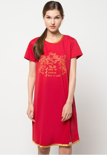 PUPPY red Dress Doodle Hipster Iii PU643AA34LWJID_1