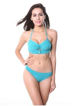 Kats Swimwear Two Piece Embossed Fabric Style #050