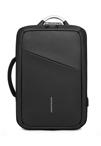 Twenty Eight Shoes 黑色 KAKA系列商務電腦旅行背包TC807 CF470AC26016E6GS_1