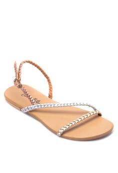 Braided Sling Back Sandals